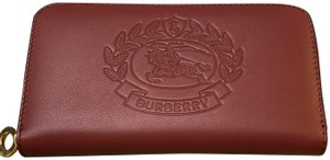 Burberry Burberry Two-Tone Leather Continental Zip Wallet