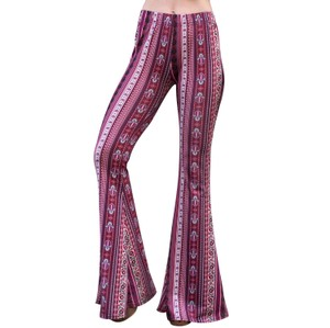 Daisy Del Sol Yoga Comfortable Leggings Flare Pants Berry
