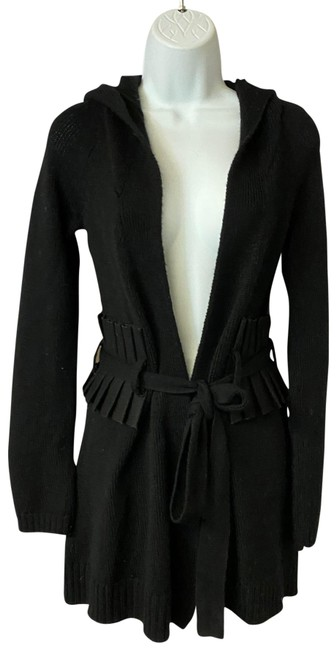 Item - Black XS Charlie&robin Belted Hooded Knit Cardigan Size 2 (XS)