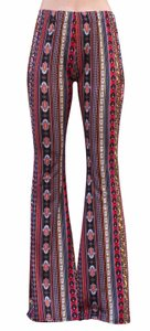 Daisy Del Sol Yoga Comfortable Leggings Flare Pants Red/Yellow