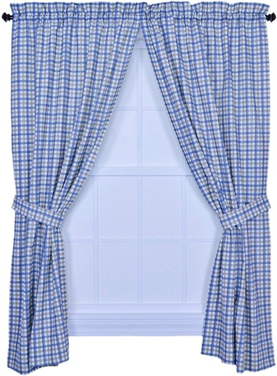Preload https://img-static.tradesy.com/item/26810980/blue-bristol-collection-two-tone-plaid-68-by-63-inch-tailored-decoration-0-0-540-540.jpg