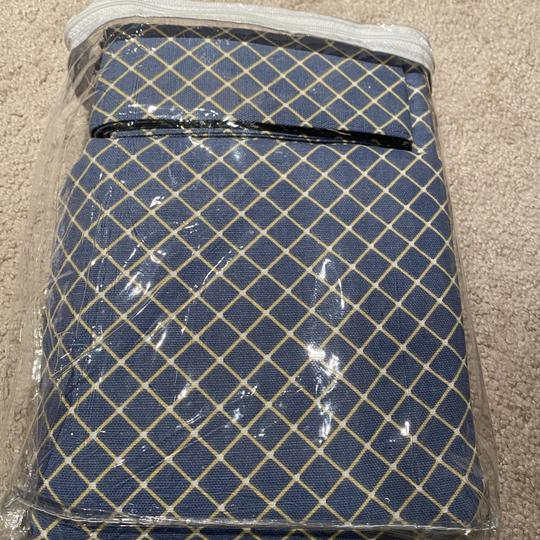 Blue Bristol Collection Two-tone Plaid 68 By 63-inch Tailored Decoration Image 2