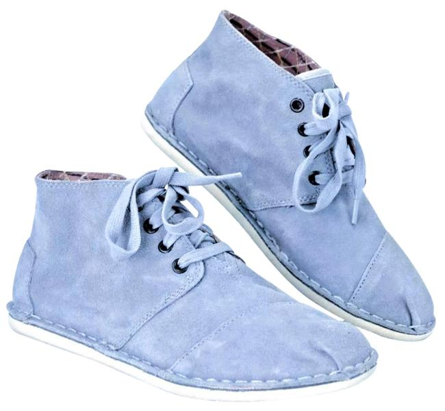 Item - Denim Blue Tomboy Chukka Lace-up Flat Suede Boots/Booties Size US 8 Wide (C, D)