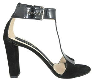 Gucci Leather T Pump Suede Black Formal
