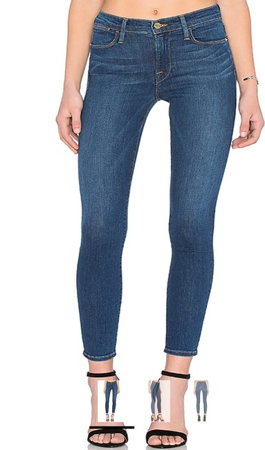 Item - Blue Dark Rinse Le High Skinny Jeans Size 4 (S, 27)