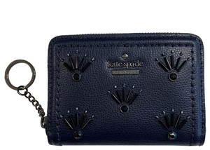 Kate Spade Dani Patterson Drive Embellished Leather Credit Card Wallet