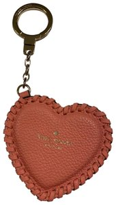 Kate Spade Whip Stitch Leather Heart Keychain Bag Charm