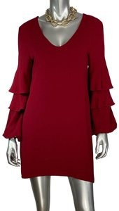 Charles Henry Datenight Party Ruffles Shift Dress