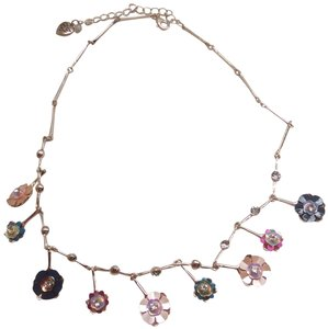 Betsey Johnson Betsey Johnson New Iridescent Flower Necklace