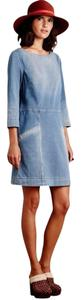 AG Adriano Goldschmied short dress Blue Denim Tunic Anthropologie Pockets on Tradesy