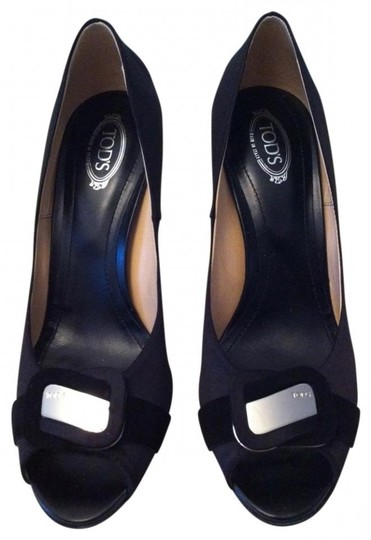 Tod's Peeptoe Heels black Pumps