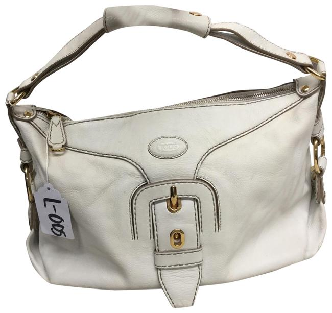 Item - Claire White Leather Hobo Bag