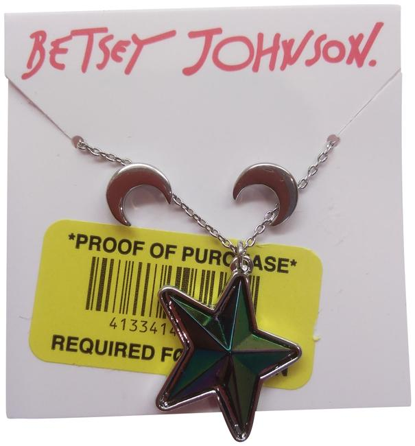 Betsey Johnson Silver New Star and Moon Necklace & Earrings Betsey Johnson Silver New Star and Moon Necklace & Earrings Image 1