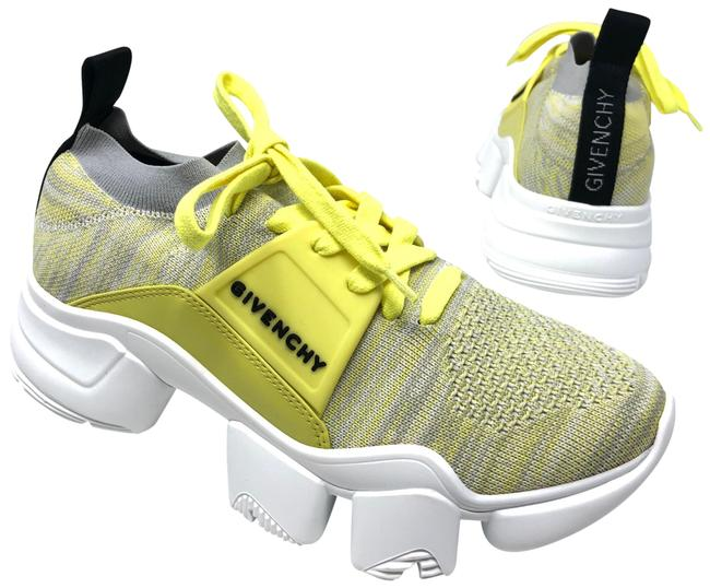Item - Yellow Low Jaw Knitted Sneakers Size EU 38.5 (Approx. US 8.5) Regular (M, B)
