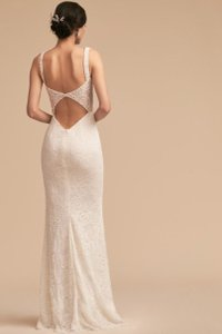 BHLDN Ivory Nude Lace Indiana Vintage Wedding Dress Size 12 (L)