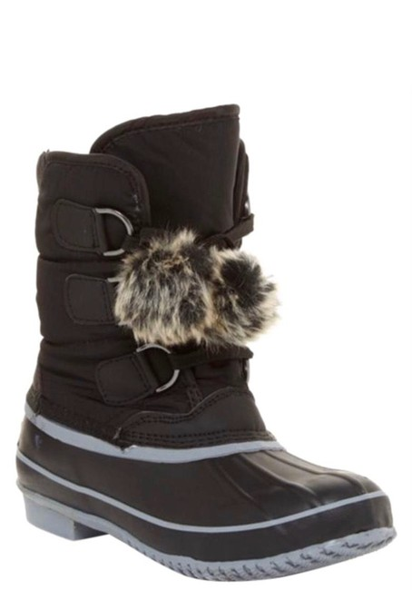 Item - Black Addy Faux Fur Lined Weather Snow Duck Gray Bnib Boots/Booties Size US 6 Regular (M, B)