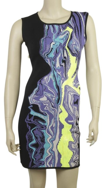 Item - Multi-colorxblack Elizabeth Multi-color & Black Rayon (172372) Maternity Dress Size 10 (M, 30)