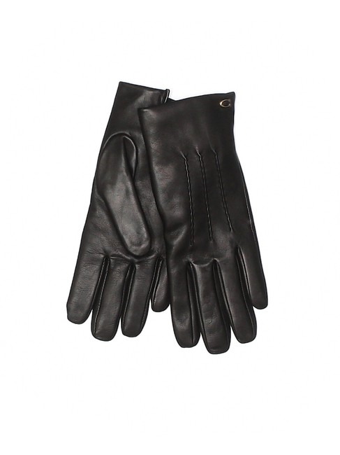 Item - Black Ladies Leather Gloves Size 6 1/2 Scarf/Wrap
