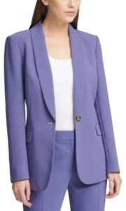 DKNY One-button Purple Blazer
