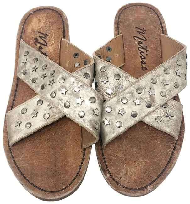 Item - Old Gold Lefty Studded Leather Sandals Size US 8 Regular (M, B)