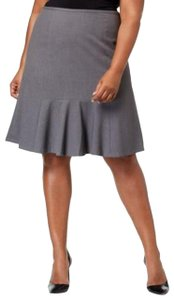 Nine West Nine West Plus Size Stretch Flare-Hem Sk Steel 20W