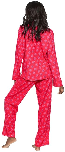 Item - Red New The Flannel Pajama 2 Piece Set Button-down Top Size 0 (XS)