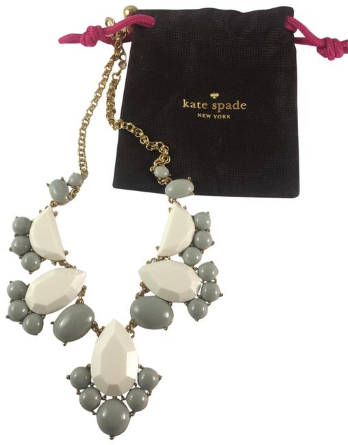 Item - Cream and Gray Bib Necklace