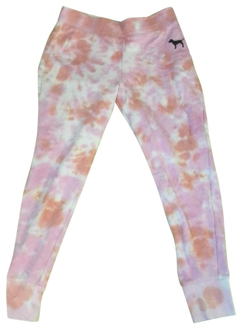 Item - White Orange Black Pink Dye Sweatpants Pants Size Petite 4 (S)