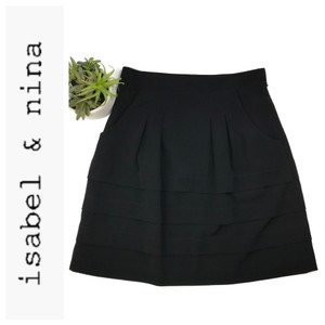 Isabel & Nina Careerskirt Isabel&nina Pleatedskirt Skirt Black