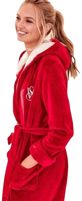 Item - Red XS New The Cozy Hooded Short Robe Xs/S Cardigan Size 2 (XS)