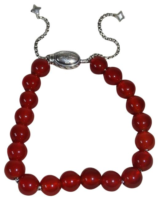 Item - Red Carmelian 8mm Sterling Silver Spiritual Bead Bracelet