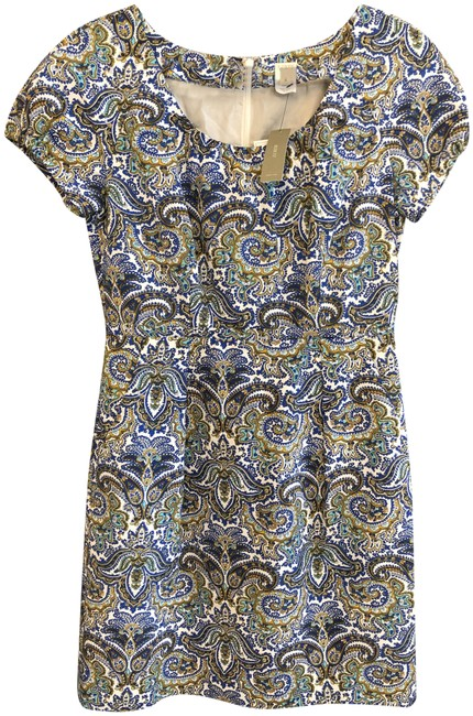 Item - Multi Color Sleeve Cotton/Silk Style#72116 Mid-length Short Casual Dress Size 6 (S)