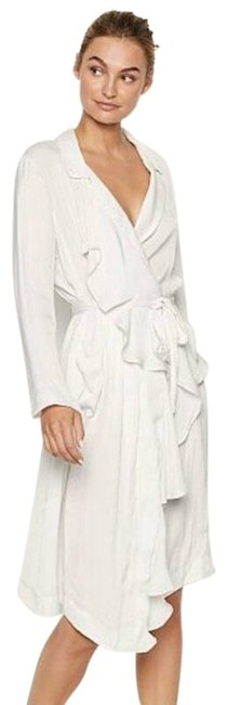 Item - White New Coconut Satin Duster Robe Small Cardigan Size 6 (S)