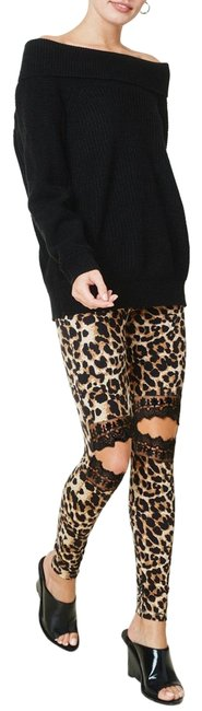 Hayden Black and Browns Leopard Lace Pants Leggings Size 8 (M, 29, 30) Hayden Black and Browns Leopard Lace Pants Leggings Size 8 (M, 29, 30) Image 1