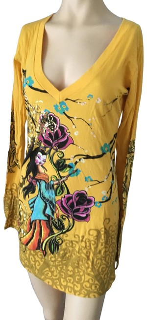 Item - Yellow <1958>los Angeles Yellow/Gold Tunic Size 8 (M)