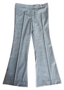 Tory Burch Silver Wide Leg Pants Grey