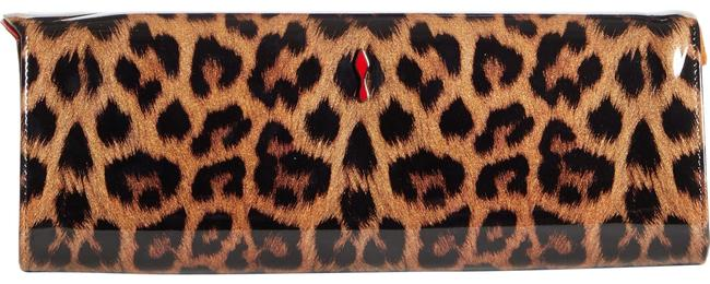 Item - So Kate Leopard Print Brown/Gold Leather Clutch