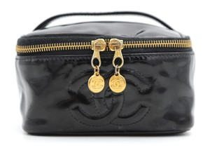 Chanel Cosmetic Black Travel Bag