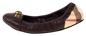 Burberry Leather Brown Flats