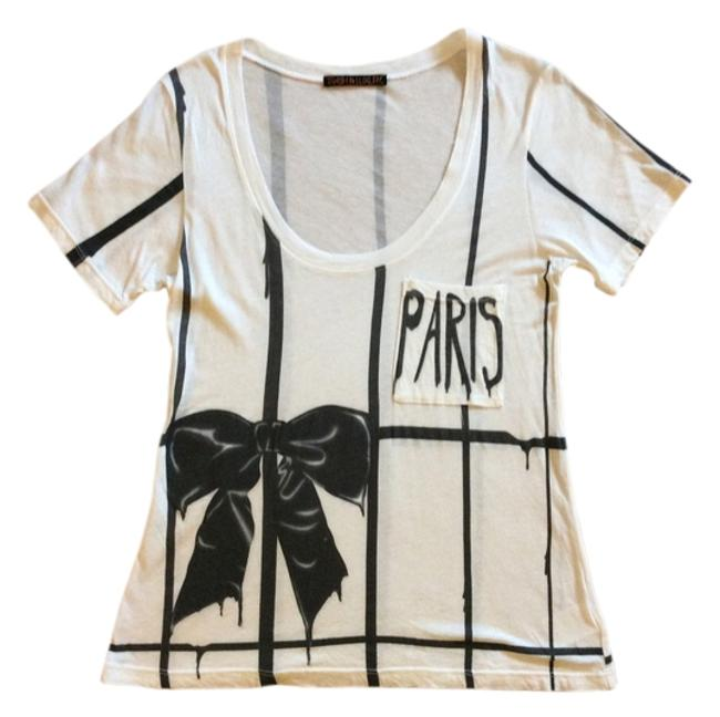 d267a4fd Trash & Luxury White W/ Black Design Tee Shirt Size 8 (M) - Tradesy