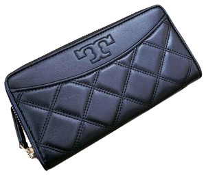 Tory Burch TORY BURCH Savannah Quilted Zip Continental Long Wallet 61506 Black
