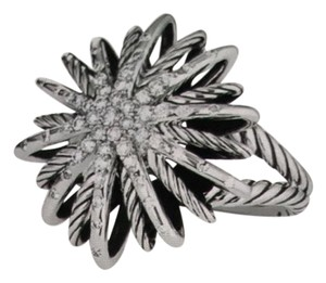 David Yurman Starburst Ring with Diamonds & Sterling Silver