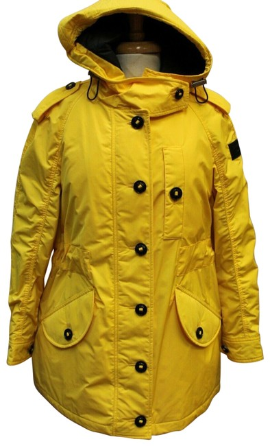 Item - Yellow Hailmere Parka Winter Quilted Lined Hooded 12 Coat Size 14 (L)