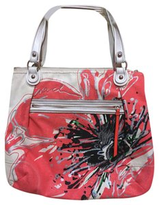 Coach poppy placed flower glam sequin tote purse hobo w dust coach poppy placed flower glam sequin tote purse hobo w dust canvas and leather shoulder bag tradesy mightylinksfo
