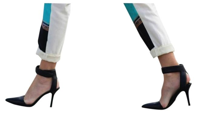 Item - Black Liya Leather with Velcro Ankle Cuff Strap Heels Formal Shoes Size US 9.5 Regular (M, B)