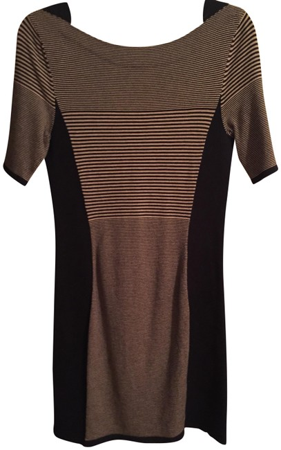 Item - Black and Tan Short Casual Dress Size 4 (S)