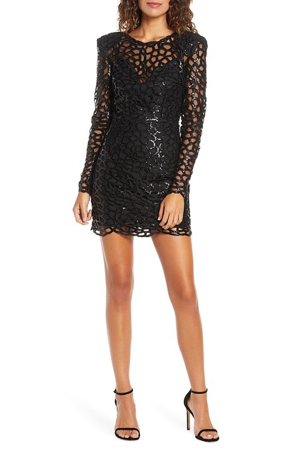 Item - Black with Tag Spider Sequin Mini Short Cocktail Dress Size 8 (M)