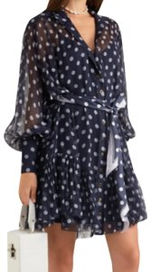 ZIMMERMANN short dress Blue Polka Dot Silk Latern Brands on Tradesy