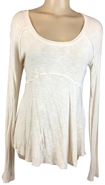 Item - Ivory Soft Knit Blouse Size 8 (M)