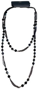 Express Beautiful Double Stand Pearl Crystal Long Necklace